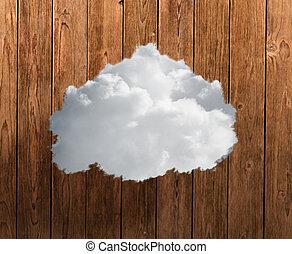 gros plan, nuage blanc