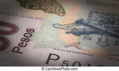 gros plan, pesos mexicains