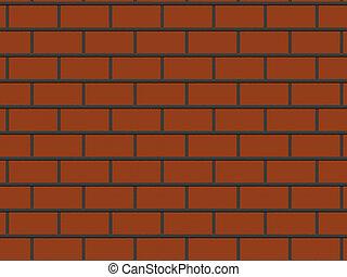 gros plan, rendu, mur, résumé, fond, brique, rouges, 3d