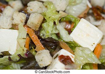 gros plan, salade