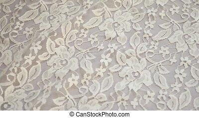 gros plan, tissu, pattern., arrière-plan., blanc, texture, dentelle