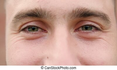 gros plan, yeux, homme