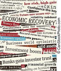 gros titres, financier, récupération