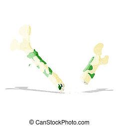 gross broken bone cartoon