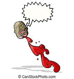 gross chopped head cartoon