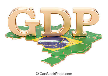 gross domestic product GDP of Brazil concept, 3D rendering