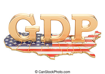 gross domestic product GDP of USA concept, 3D rendering