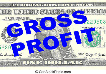 Gross Profit - financial concept - Render illustration of...