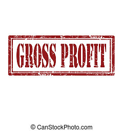 Gross Profit-stamp - Grunge rubber stamp with text Gross...