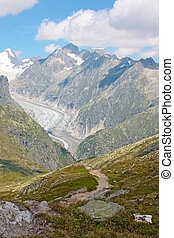 Grosser Aletschgletcher (glacier) , Alps, Switzerland