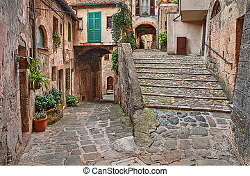 grosseto, イタリア, 絵のよう, トスカーナ, sorano, コーナー