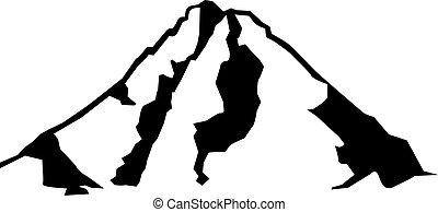 grossglockner, 山, 黑色半面畫像