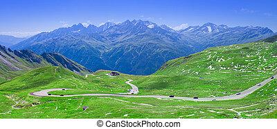 Grossglockner high alpine road panorama, Austria