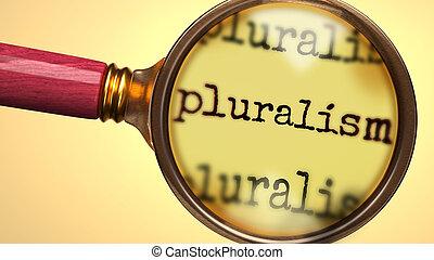 grossir, plus proche, explorer, mot, symboliser, pluralism, ...