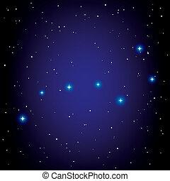grote dipper, vector, constellatie