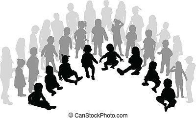 grote groep, kinderen