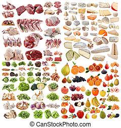 grote groep, van, voedingsmiddelen