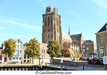 Grote Kerk church, the main attraction of Dordrecht