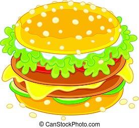 grote sandwich, smakelijk