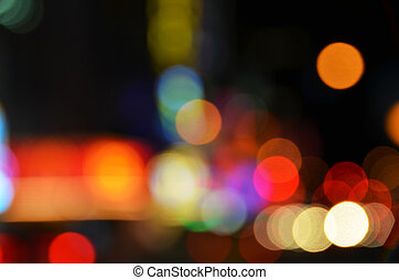 grote stad, lichten