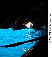 Grotta Azzurra, cave on the coast of the island of Capri. -...
