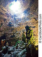 grotta, di, castellano, apulia, -, eindrucksvoll, stein,...