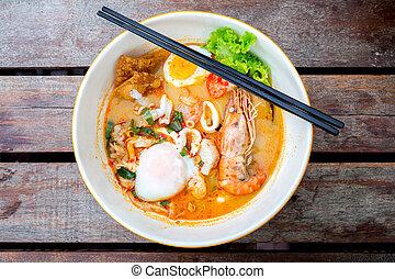 Tomyum noodle - groumet Tomyum noodle with seafood