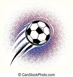 ground., balle, football, drapeau, texture, france, couleurs, championnat, fond, rugosité