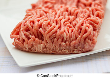Ground beef for the Bolognese sauce