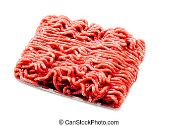 Ground beef isolated on white