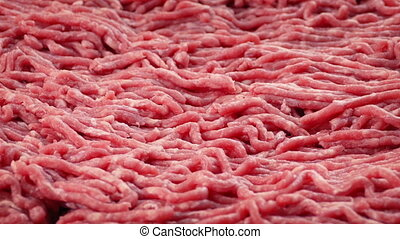 Ground Beef Rotating Slowly - Raw minced beef turning slowly...
