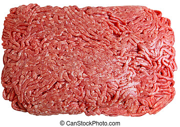 Ground Beef - Lean ground beef isolated on white background