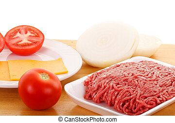 Ground Beef Tomatoes Onions and Cheese