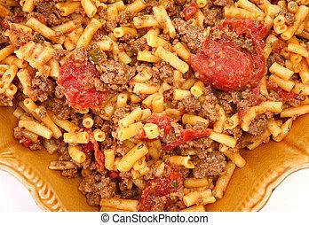 Ground Bison and Cheddar Macaroni