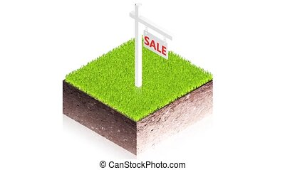 Ground block sale - 3D animation of a simple objects for use...