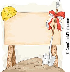 Ground Breaking Construction Shovel Board - Illustration of...