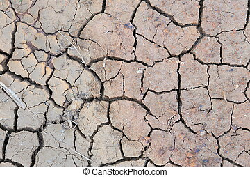 Ground broken and dry