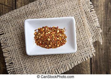 ground cayenne pepper in bowl