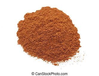Ground Cinnamon isolated on white background