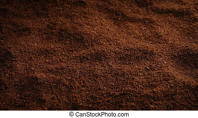 Ground Coffee Closeup - Closeup of ground coffee granules...