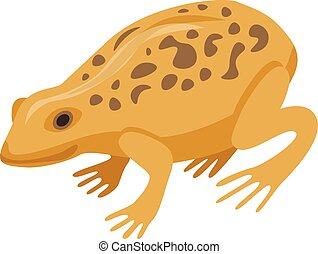 Ground frog icon, isometric style