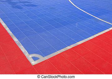 Ground futsal field