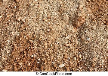 Ground - Gravel soil brown ground texture