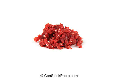 Ground raw meat