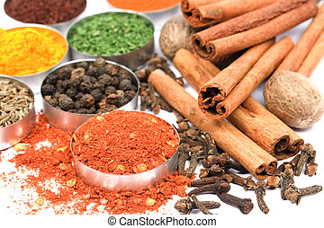 Ground red pepper and other indian spices
