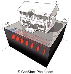 ground source heat pump diagram with radiators - diagram of...