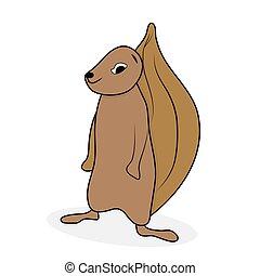 Ground squirrel cartoon animal