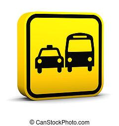 Ground Transportation Sign - Ground transportation sign on a...