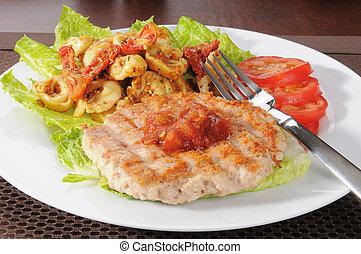 Ground turkey or chicken burger