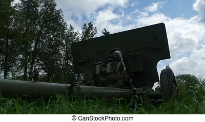 Ground View of a Cannon - VIew of a cannon form ground in...